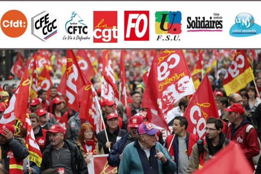 Fransız emek örgütlerinden ortak Türkiye açıklaması