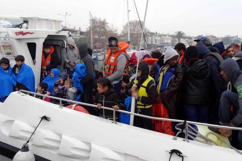 Ayvacık'ta 64 mülteci Midilli'ye geçmesi engellendi