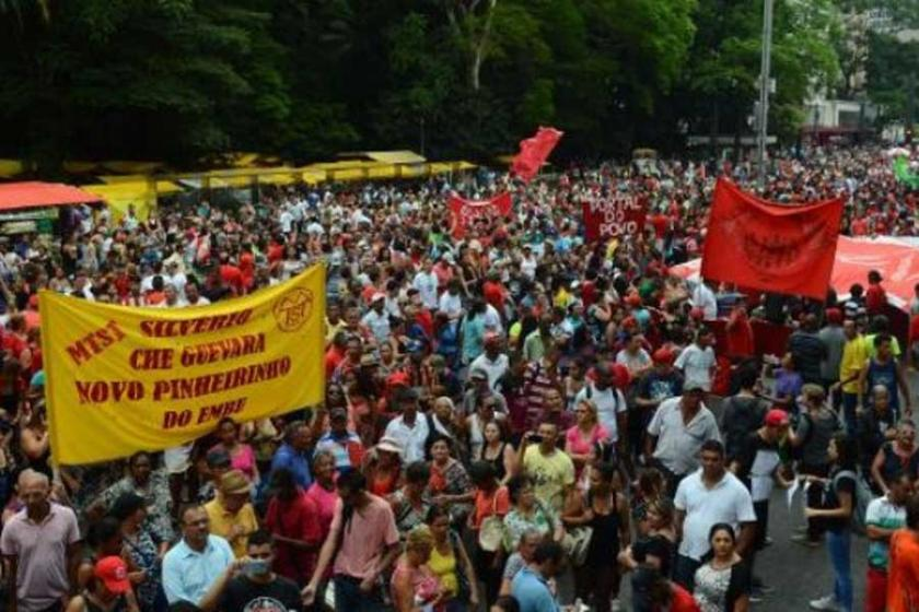 Brezilya'da binler Temer'in görevden alınmasını istedi