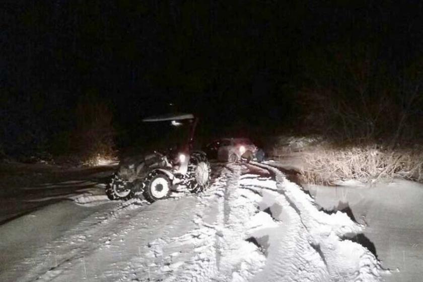 Uludağ'da 30 araç mahsur kaldı