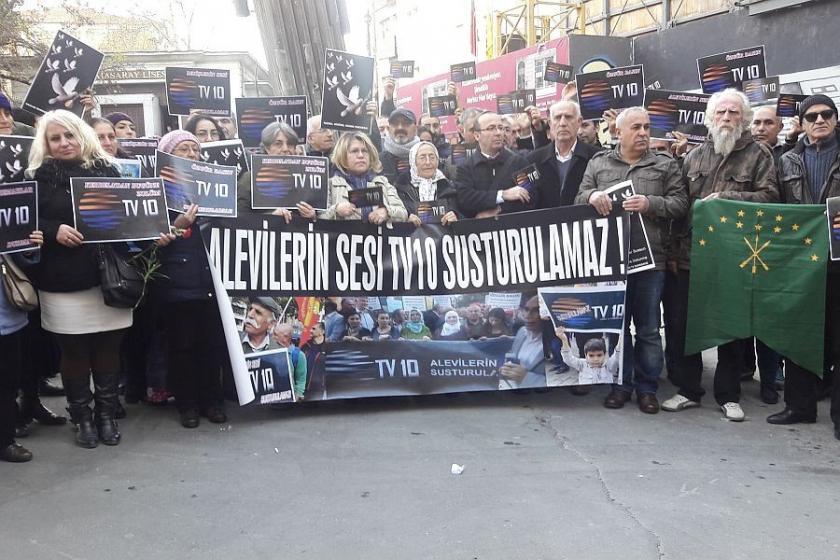 TV 10'un kapatılması protesto edildi