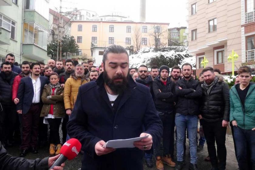Trabzon'da işyeri sahiplerinden sigara yasağına tepki eylemi