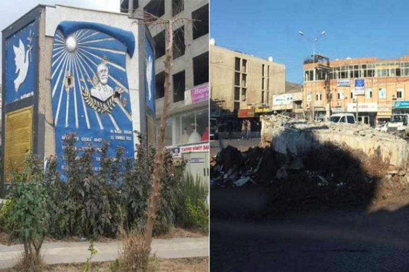 Cizre'de kayyım Orhan Doğan anıtını da yıktı