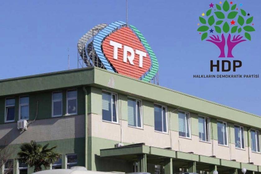 HDP'den TRT'ye 1 liralık  tazminat davası