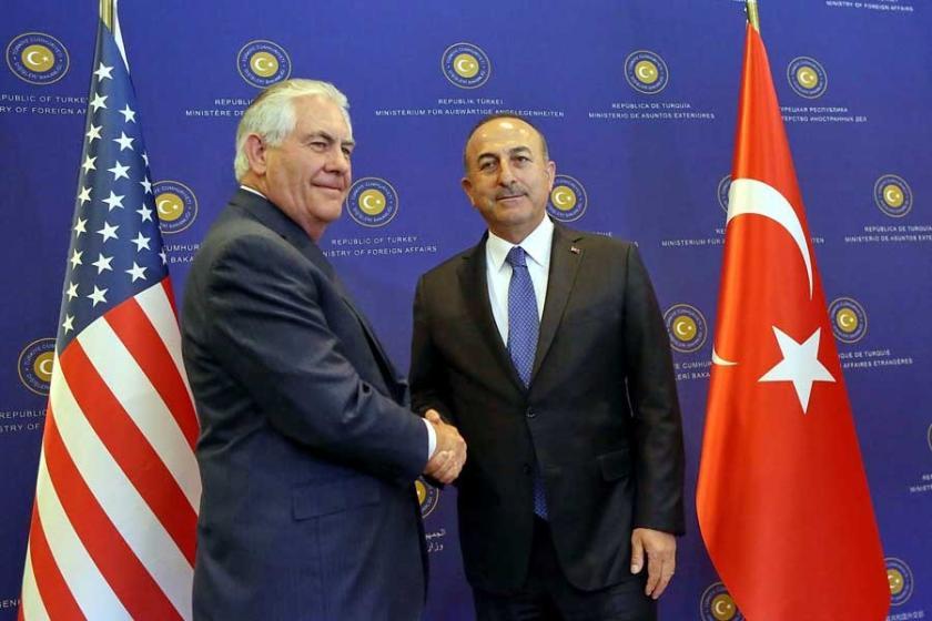Mevlüt Çavuşoğlu, ABD'li mevkidaşı Rex Tillerson ile görüştü