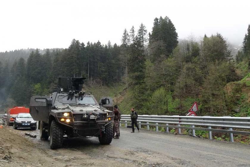 Trabzon'da jandarma ile PKK'liler arasında çatışma