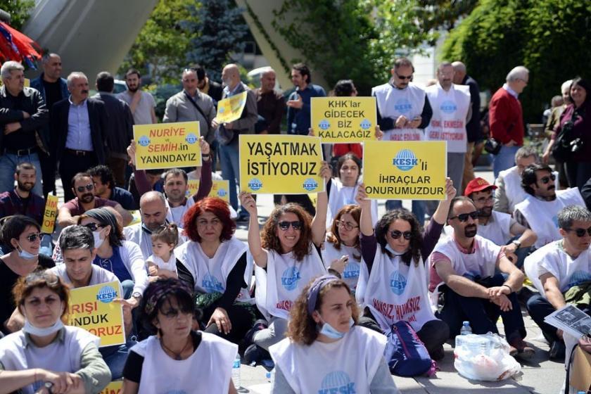 Bakırköy'de KHK ihraçları protesto edildi