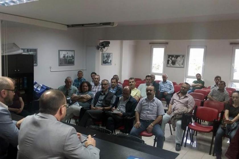 Emek ve DemokrasiPlatformu'ndan cam işçisine destek