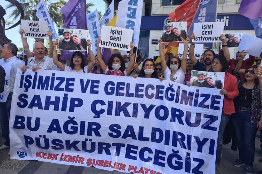 KESK'ten ihraçlara karşı İzmirlilere destek çağrısı