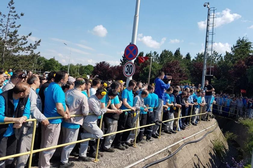Birleşik Metal'den cam işçilerine destek ziyareti