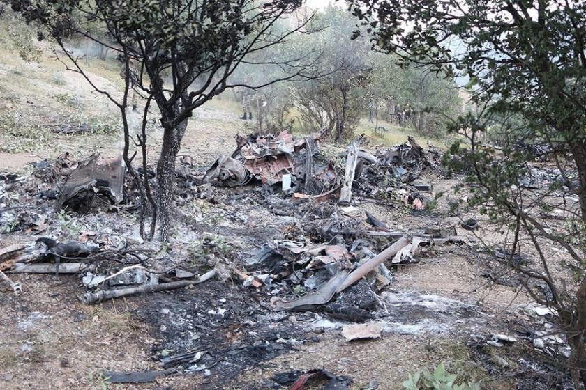 Şırnak'tan kalkan askeri helikopter düştü