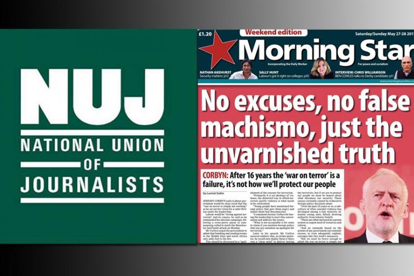 Morning Star ve NUJ'den Evrensel ile anlamlı dayanışma