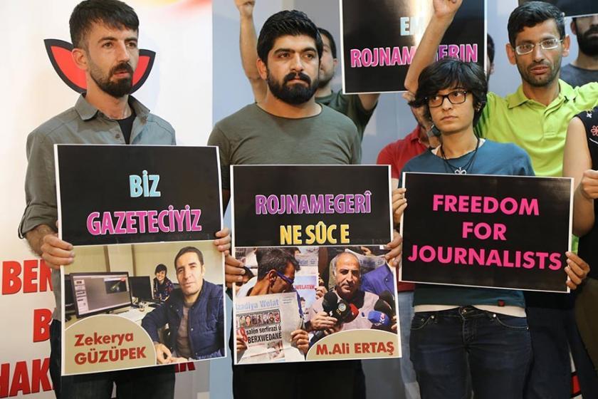 DİHA çalışanlarının gözaltına alınmasına gazeteciler tepkili