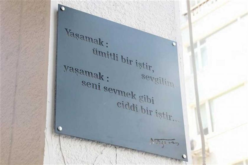 Kadıköy duvarlarında Nâzım Hikmet