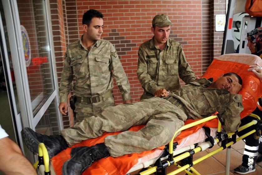 Tokat'ta yıldırım düşmesi sonucu 5 asker yaralandı