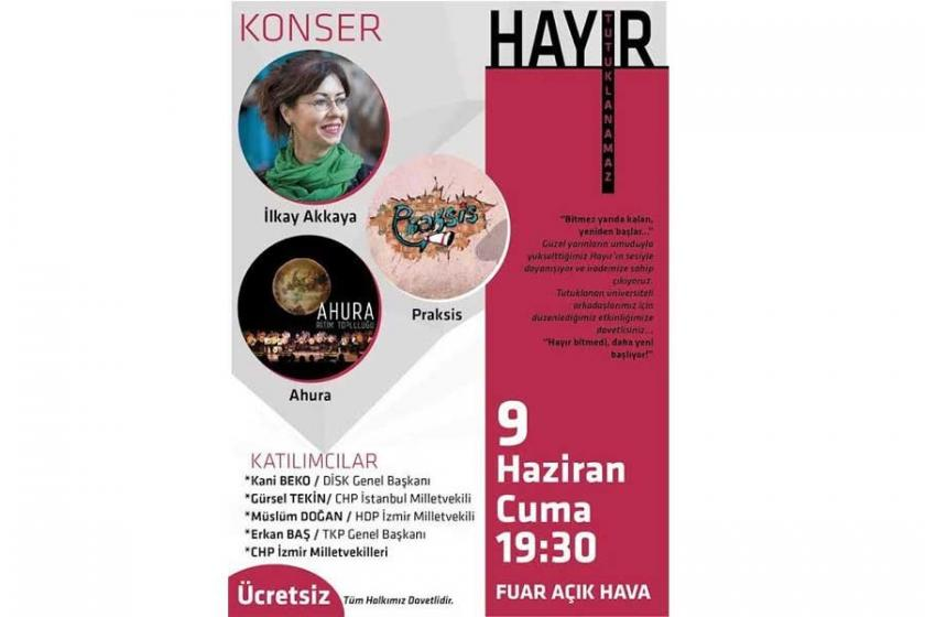 İzmir'de 'hayır tutuklanamaz' etkinliği