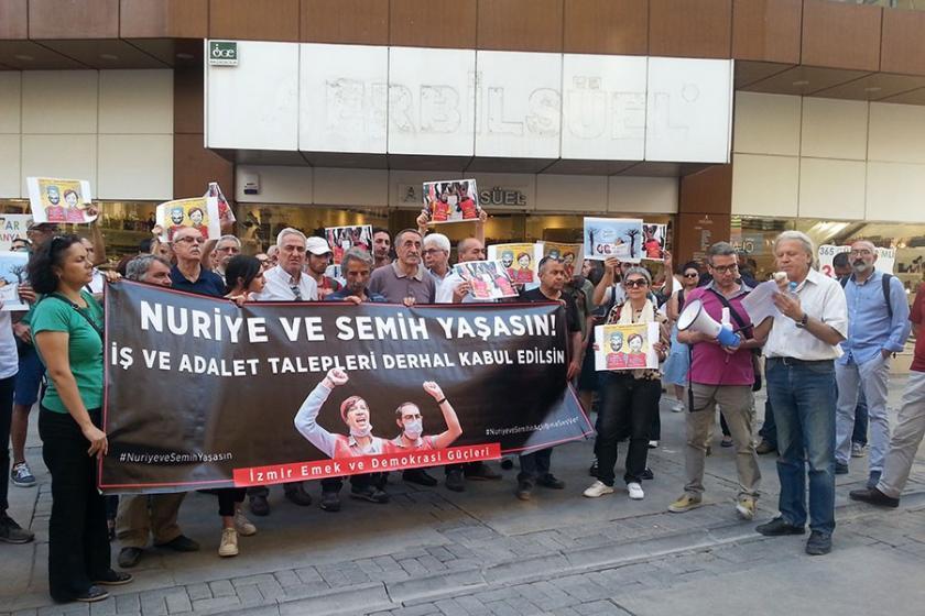 İzmir Emek ve Demokrasi Güçleri: Nuriye ve Semih yaşasın!