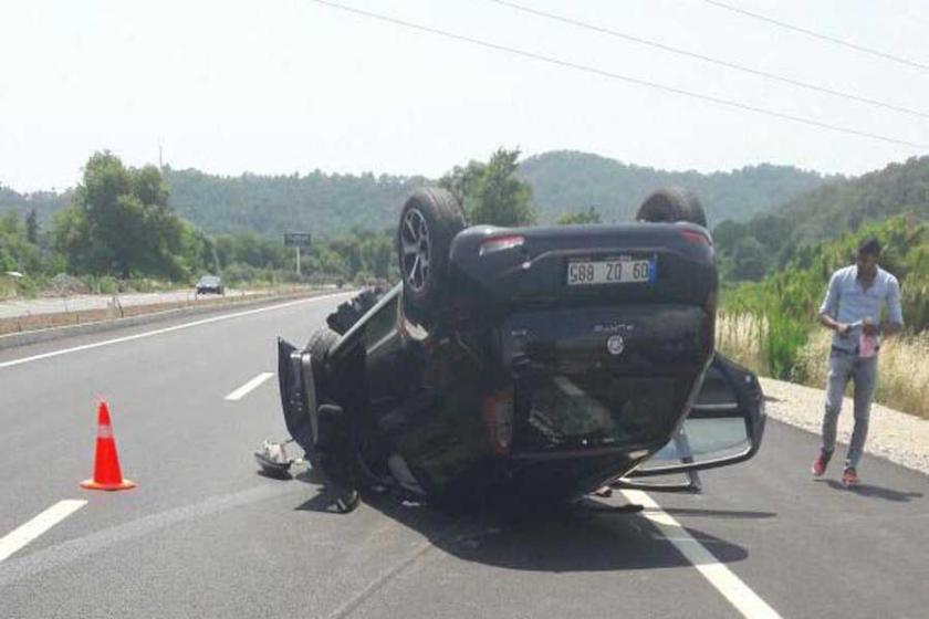 Muğla'da otomobil takla attı: 5'i çocuk 8 yaralı