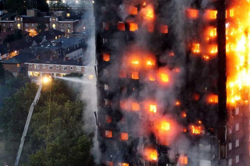 Londra yangını buzdolabının alev almasıyla çıktı