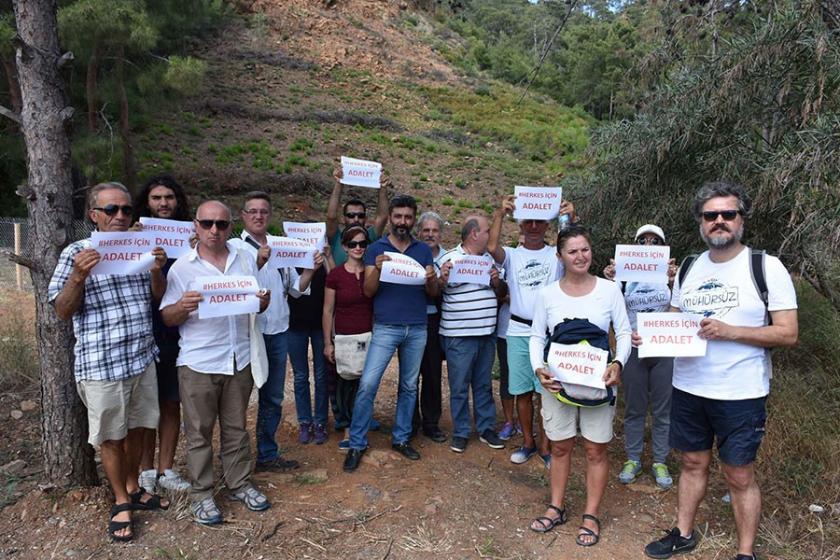 Marmaris'ten 'Adalet Yürüyüşü'ne destek