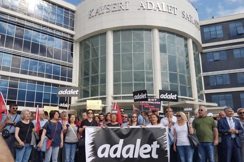 Kayseri'den 'adalet' yürüyüşüne destek