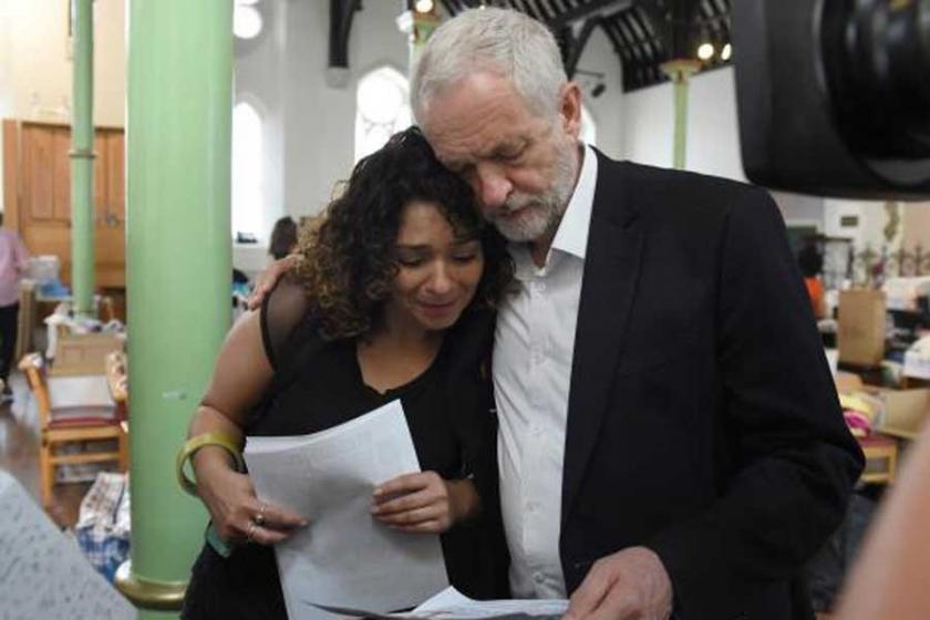 Corbyn: Mağdurlar zenginlerin evlerine yerleştirilsin