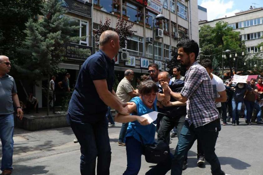 Yüksel Caddesindeki eylemde yine polis şiddeti