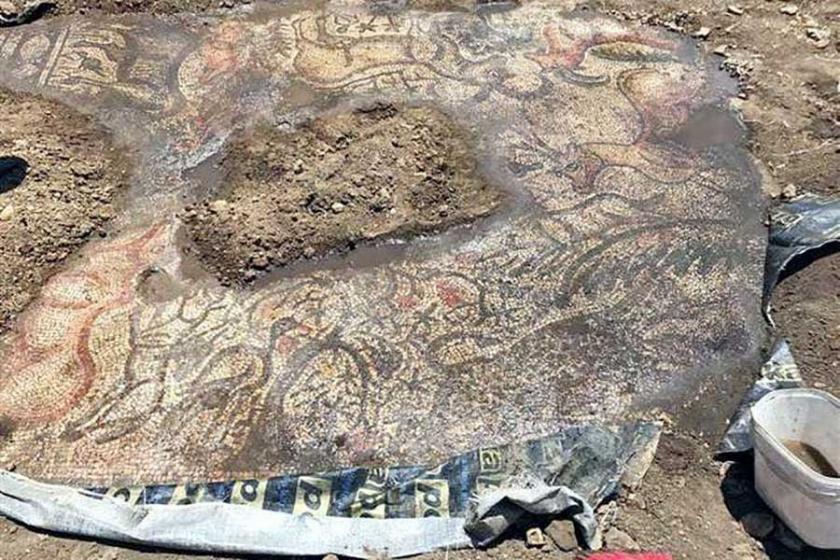 Gölbaşı'nda 1600 yıllık mozaik bulundu