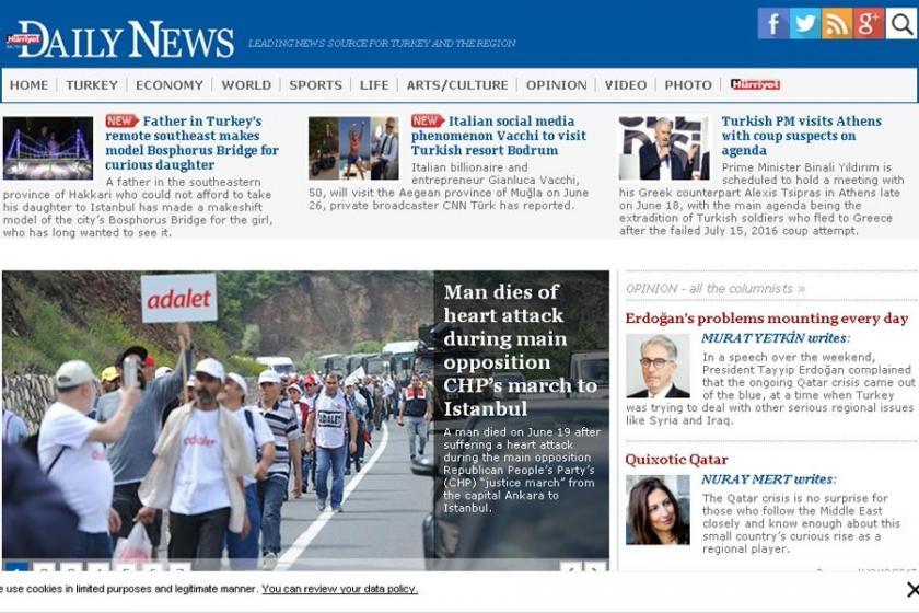 Mısır'dan Hürriyet Daily News'e yasak
