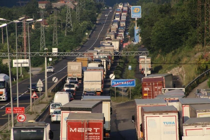 Bolu Dağı'nda trafik çilesi