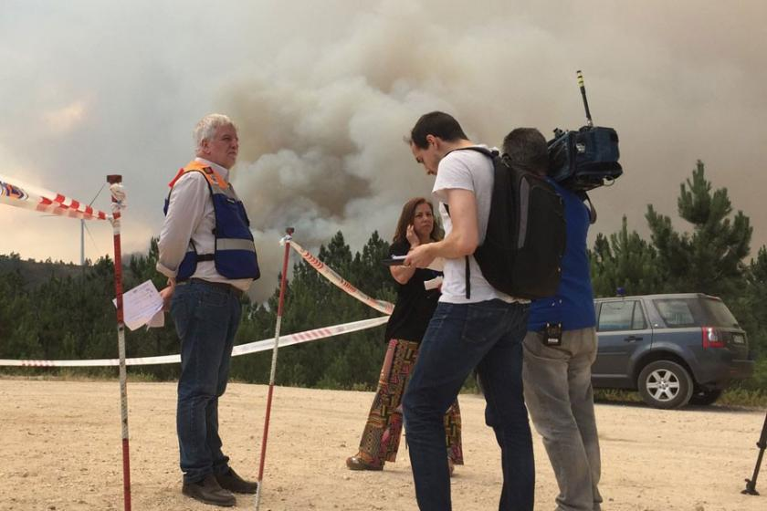 Portekiz Devlet Bakanı, itfaiye uçağının düştüğünü yalanladı