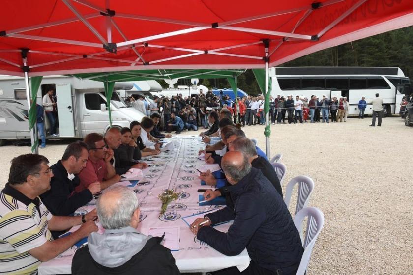 CHP MYK'sı Adalet Yürüyüşü güzergahında toplandı