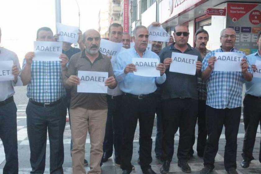 CHP Urfa'da adalet için saygı duruşunda bulundu
