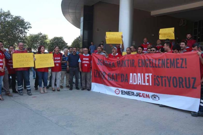 İzmir Gaz'da Enerji Sen üyesi 15 işçi çıkarıldı