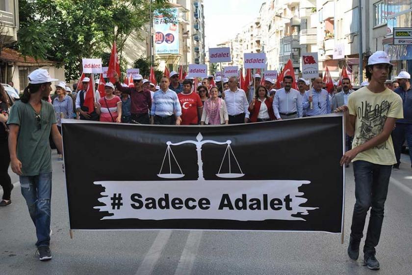 Denizli'den Adalet Yürüyüşü'ne kitlesel destek