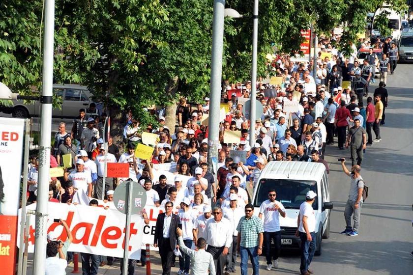 Antep'ten 'Adalet Yürüyüşü'ne destek