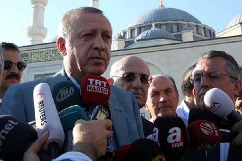 Erdoğan Türkiye basın karnesini es geçti, El Cezire'yi gördü