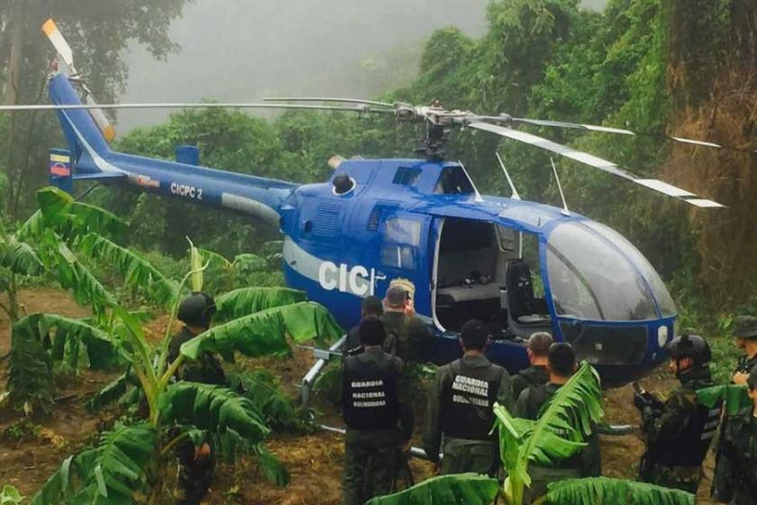 Venezuela'da mahkeme bombalayan helikopter bulundu