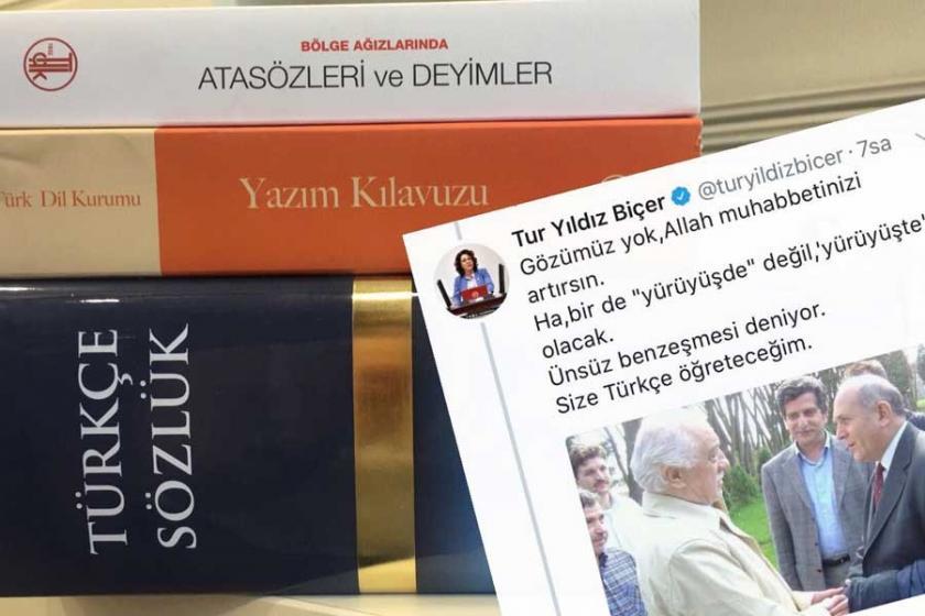 CHP'li Tur Yıldız Biçer Burhan Kuzu'ya Türkçe seti gönderdi