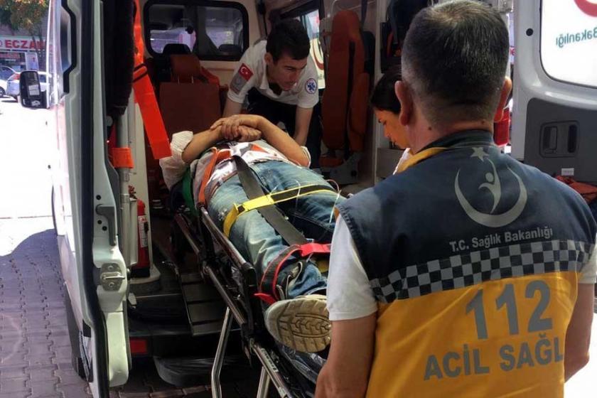 Kayseri'de inşaat işçisi ikinci kattan düşerek yaralandı