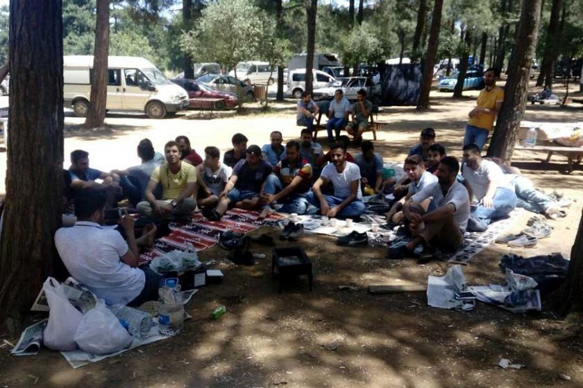 Nakış işçileri piknikte bir araya geldi