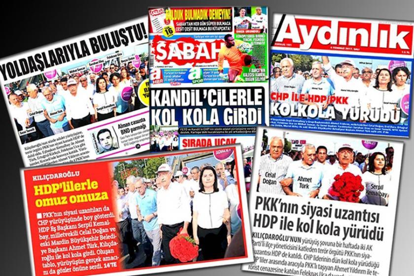 Yandaşın hedefi Adalet Yürüyüşü'ndeki HDP