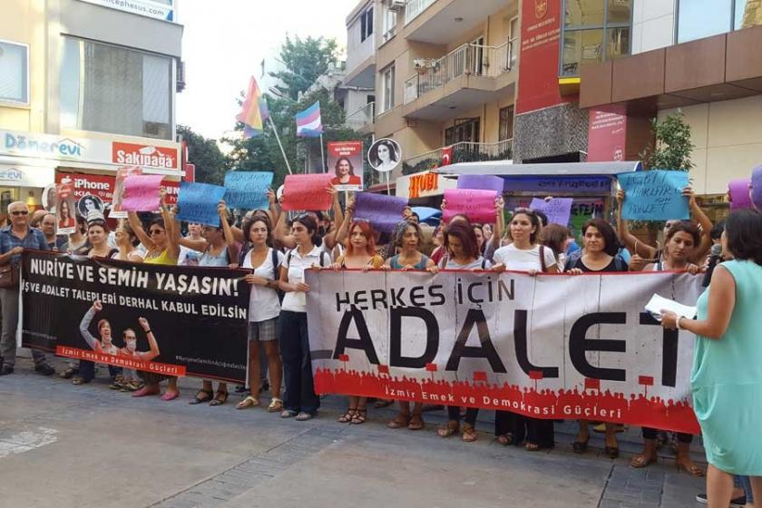 İzmir Adalet Nöbeti'nde kadınlar hakları için adalet istedi