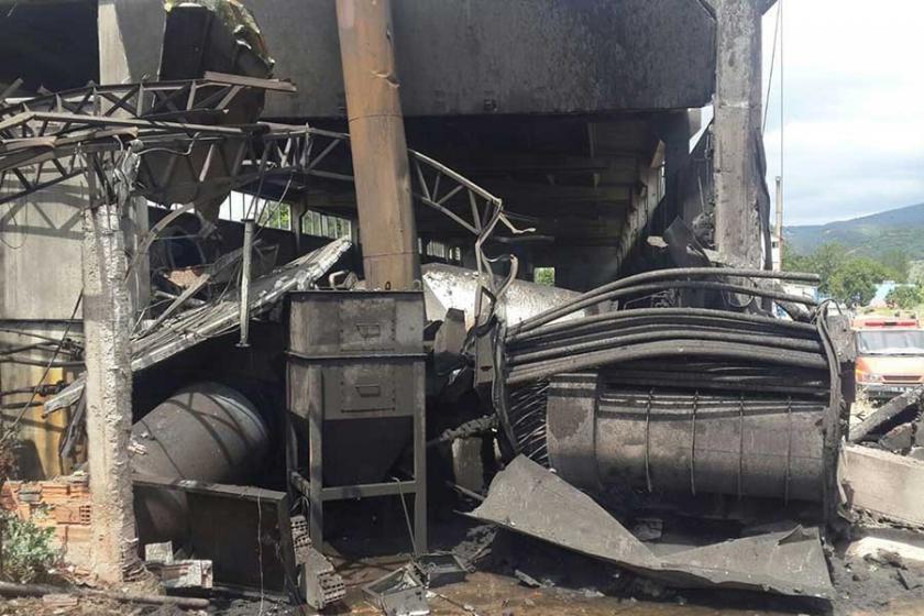 Fabrikada kazan patladı