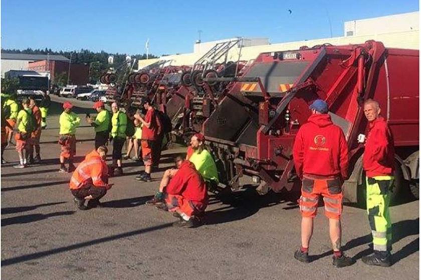 İsveç'te temizlik işçileri direnişte