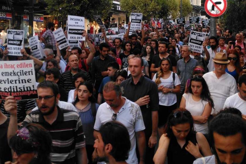 Kadıköy'de Gülmen ve Özakça için eylem yapıldı
