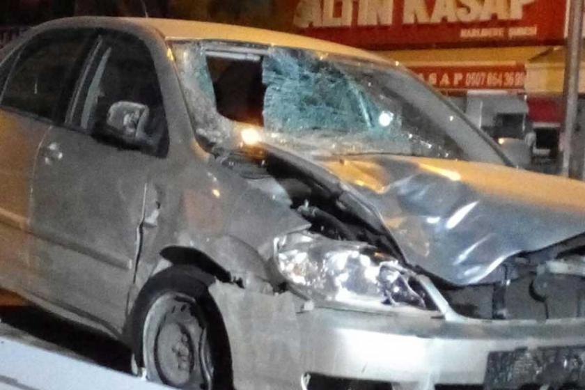 Otomobil işçilere çarptı: 1 ölü, 1 yaralı