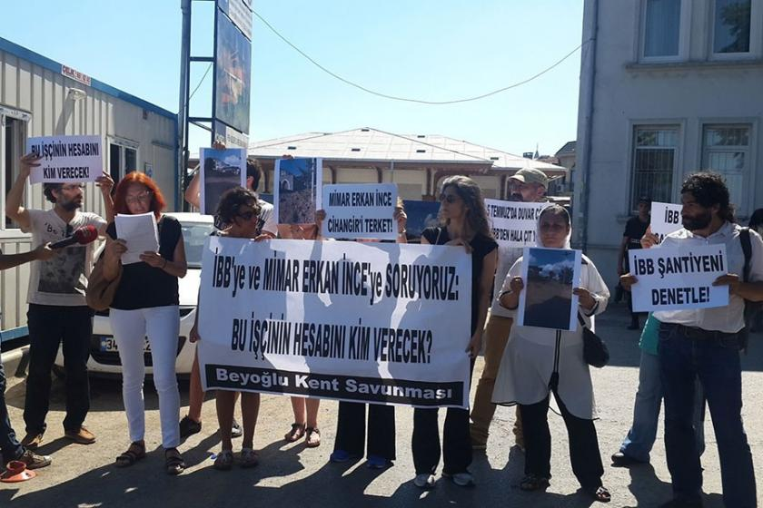 Beyoğlu Kent Savunmasından iş kazası protestosu