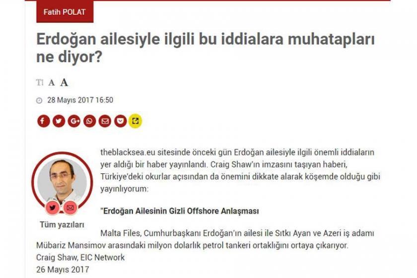 Fatih Polat'ın soru soran yazısına erişim engeli