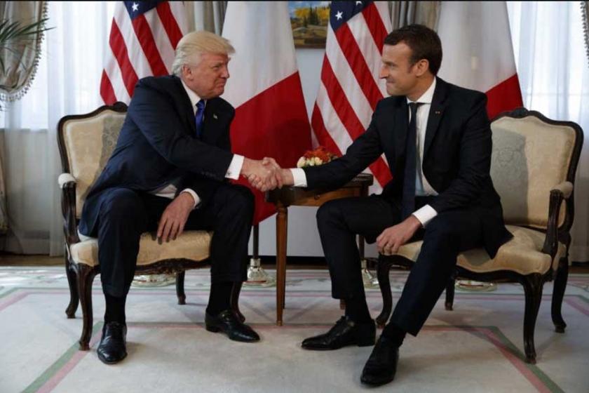 Trump ile Macron Suriye'yi görüşecek